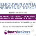 Baanbrekers zoekt twee managers