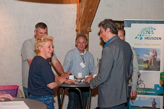 De ongedwongen sfeer tijdens de Meet & Greet zorgde voor leuke gesprekken.