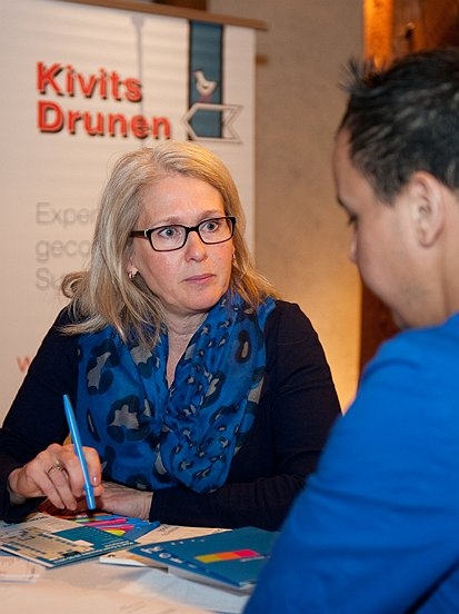 Ondernemers en werkzoekenden gingen met elkaar in gesprek.
