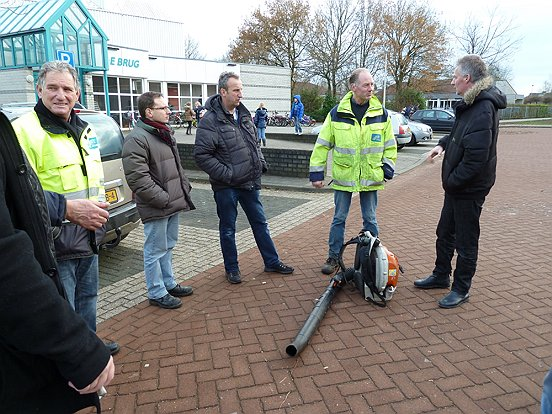 De medewerkers van de buitendienst van de gemeente Heusden gaven tekst en uitleg over hun werkzaamheden.