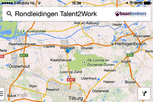 Actueel overzicht rondleidingen Talent2Work