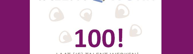 De talententeller of uitstroommeter van Talent2Work staat sinds kort op honderd.