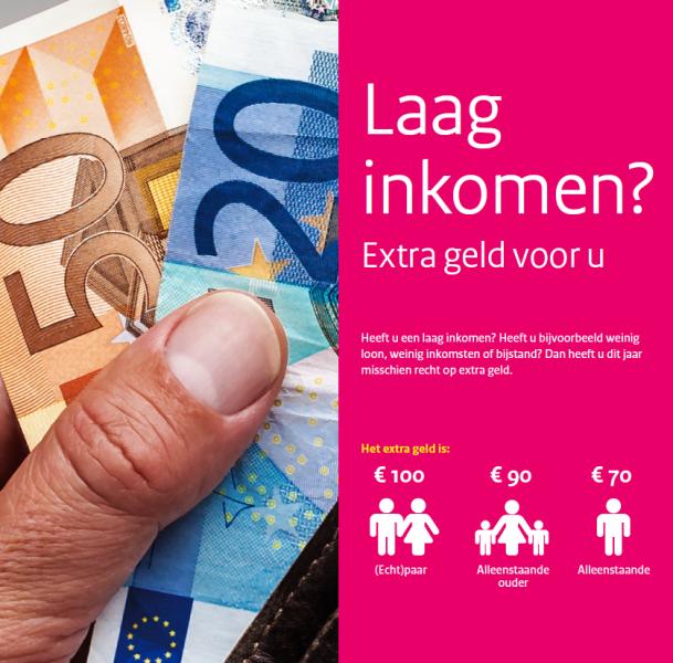 Inwoners van de gemeenten Heusden, Loon op Zand en Waalwijk met een laag inkomen hebben mogelijk recht op de koopkrachttegemoetkoming.