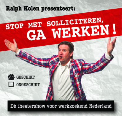 Ralph Kolen – bekend van de workshops 'Stop met solliciteren, ga werken' – is de gastheer van de Talentenbeurs.