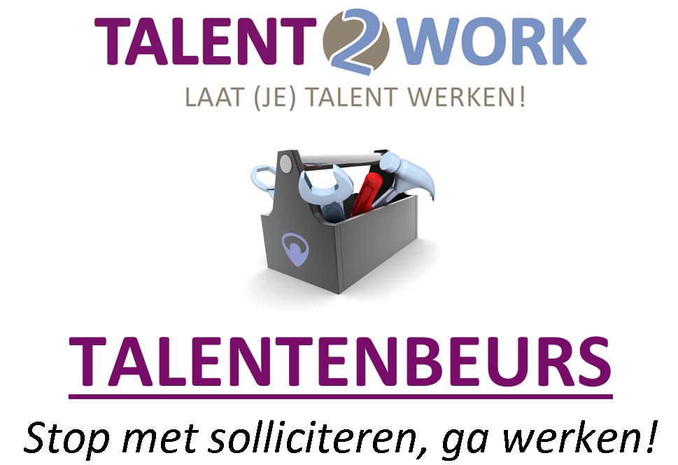De derde Talentenbeurs van Talent2Work is op donderdag 7 april a.s. in de Voorste Venne in Drunen.