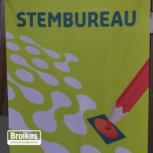In totaal 49 stembureaus werden gecaterd door  Broikes.