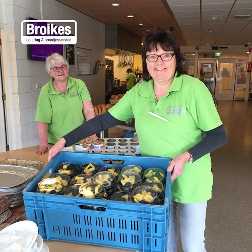 Ruim achthonderd porties werden door Broikes in de gemeenten Heusden en Waalwijk bezorgd.
