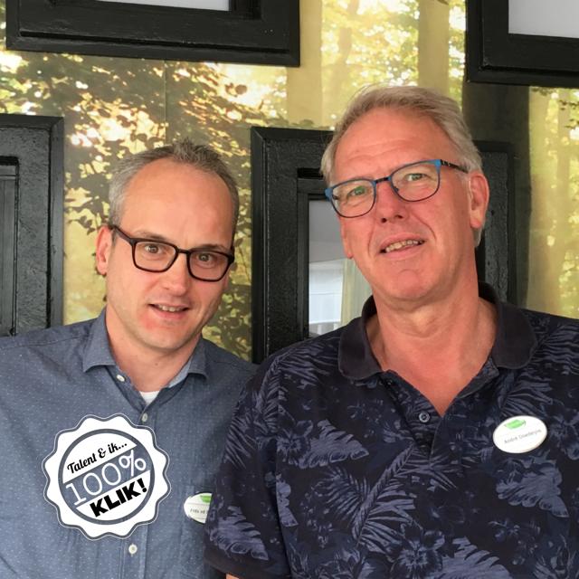 Frits van den Besselaar (links) en André Doedeijns (rechts) werken goed samen bij Ruitersbos.