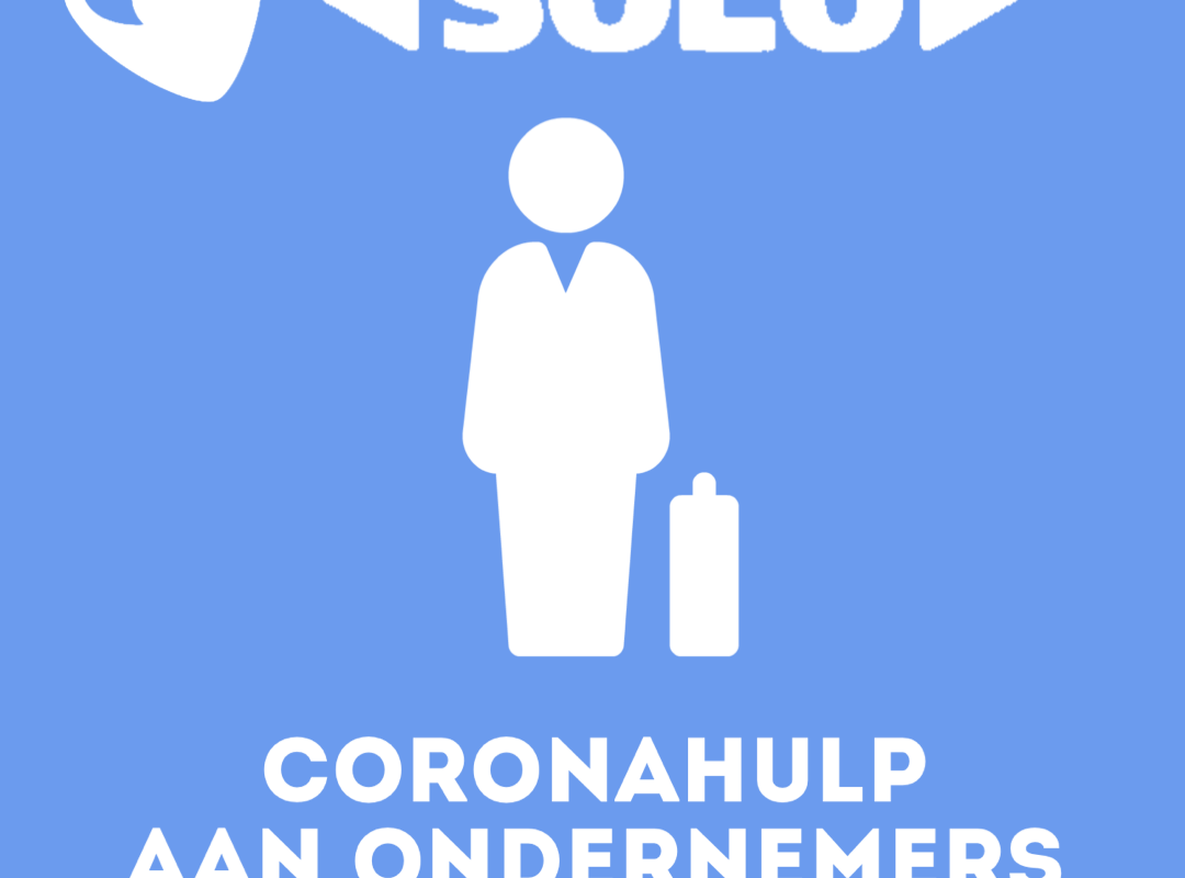 Druk op de blauwe knop in het Soloportaal voor coronahulp.