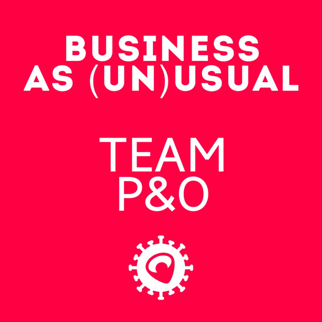 Ook bij P&O is het business as (un)usual.