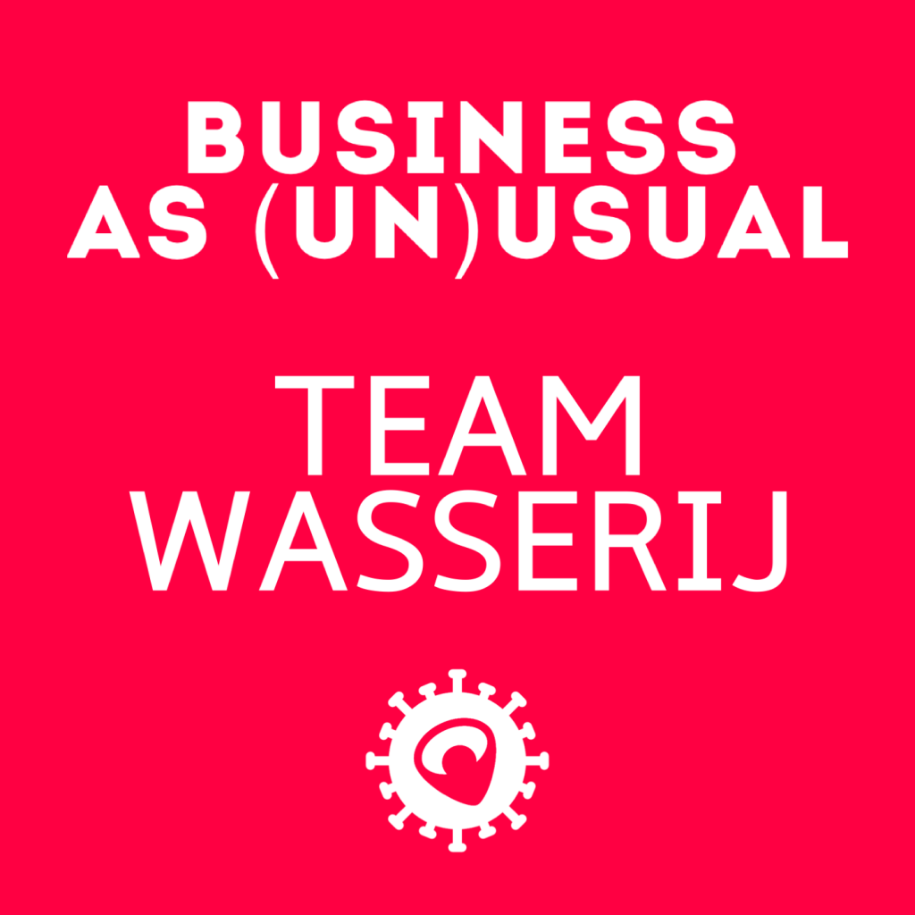 Business as (un)usual - team wasserij van Baanbrekers.